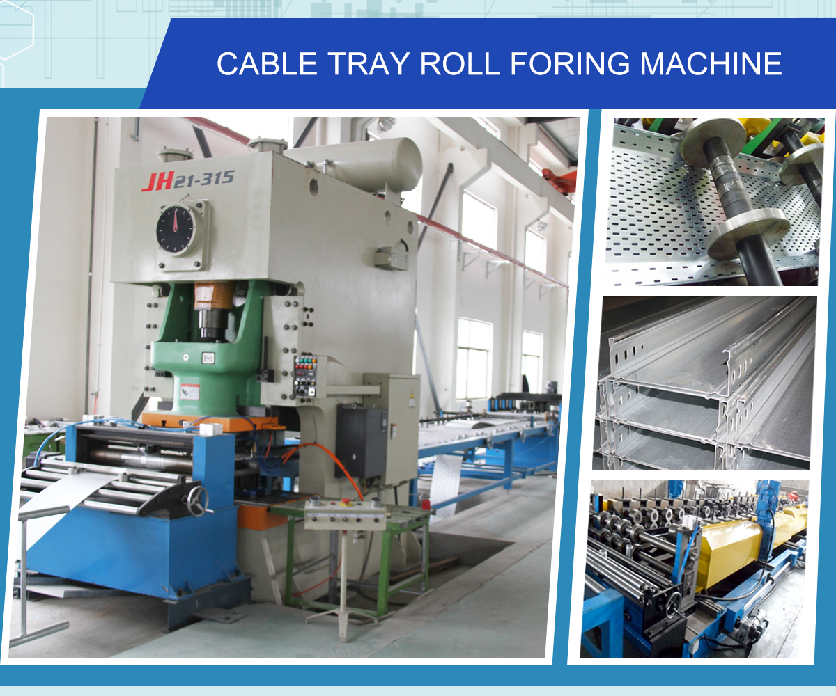 Steel Stainless With Cover Perforated Cable Tray Roll Forming Machine