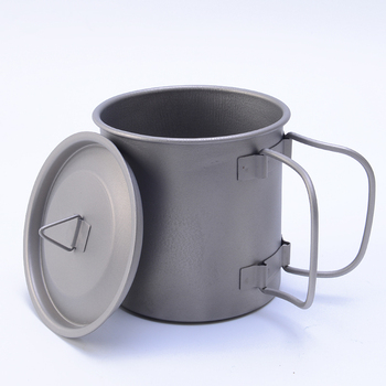 f6e9e65a6ee Huanhao Ultralight Titanium Cup Mug 400ml Outdoor Water Cup Camping Picnic  Water Mug Tableware with Foldable