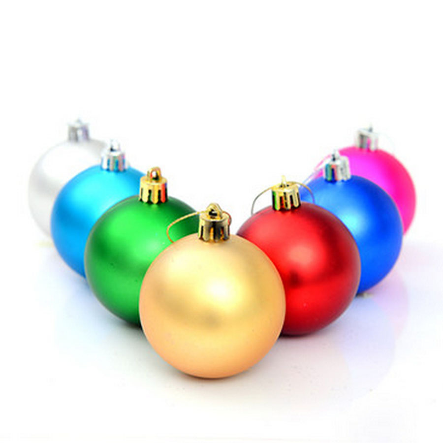 Large Plastic Christmas Balls 24 Pcs/lot For Christmas