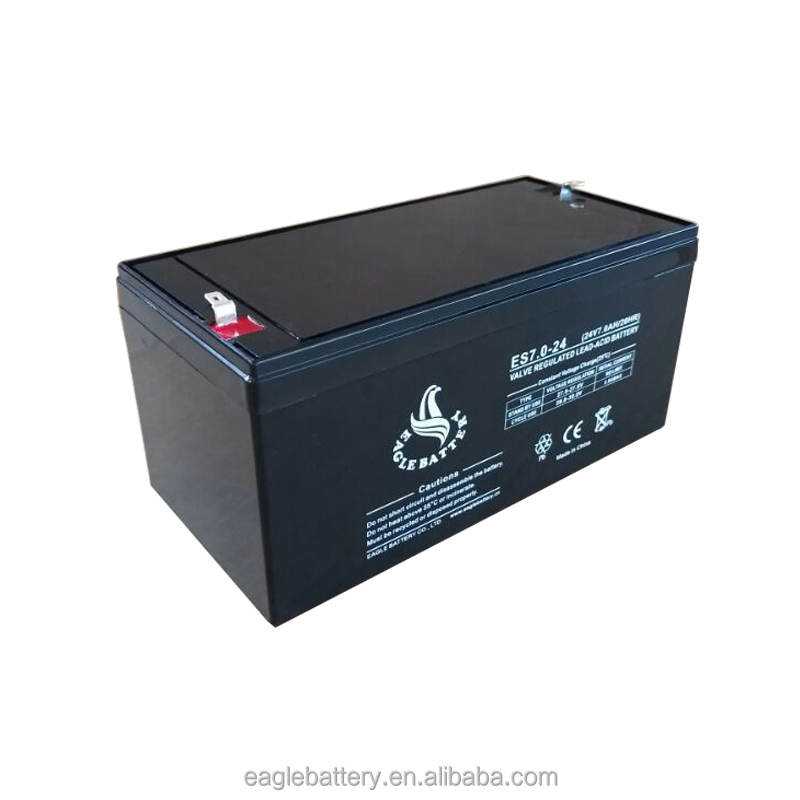 24V 7Ah Rechargeable Agm Sealed Lead acid solar battery