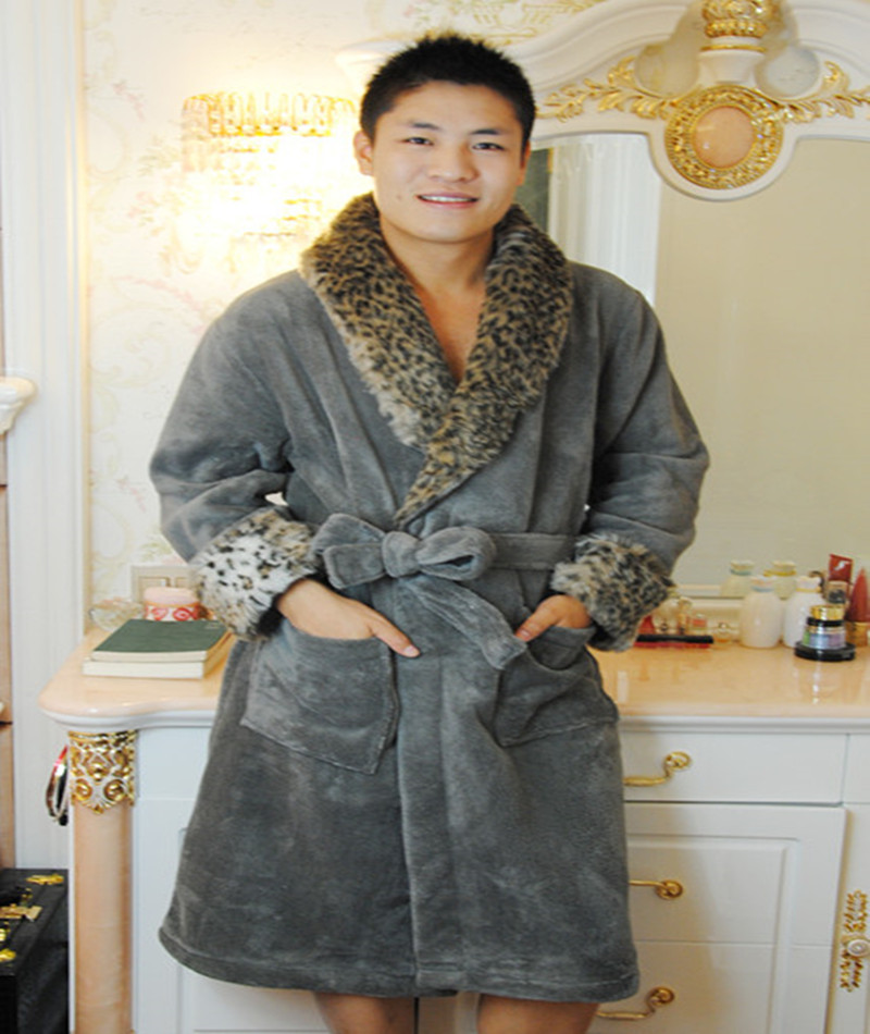 OEM men fashion 100 polyester kaftan dressing gown