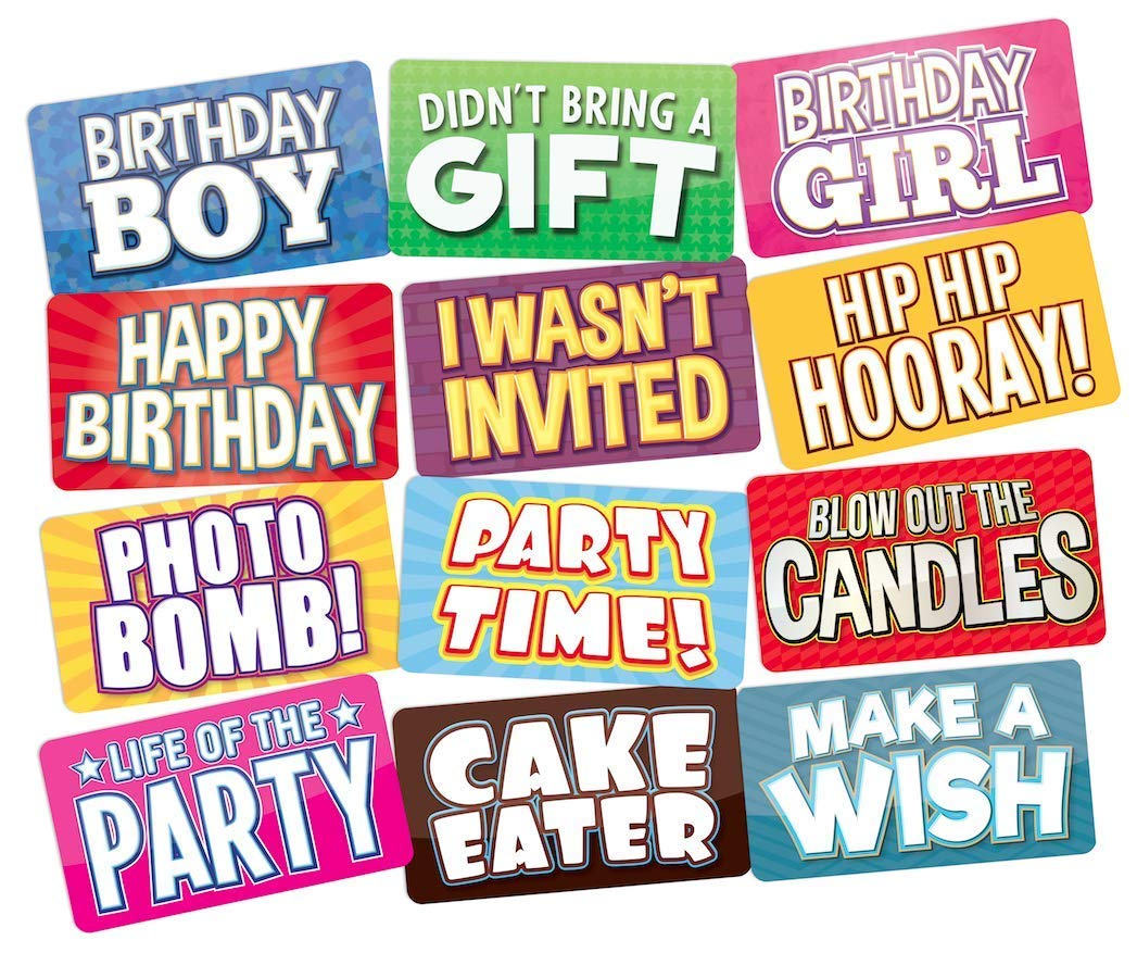 ea479725d945 Birthday Photo Booth Props Perfect for any Bday Party 18th
