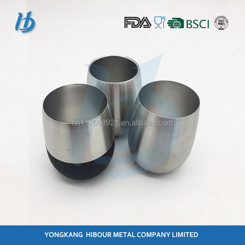 Wholesale hot selling factory outlet keep-warm beer mugs 18/8 stainless steel wine glass with new designed