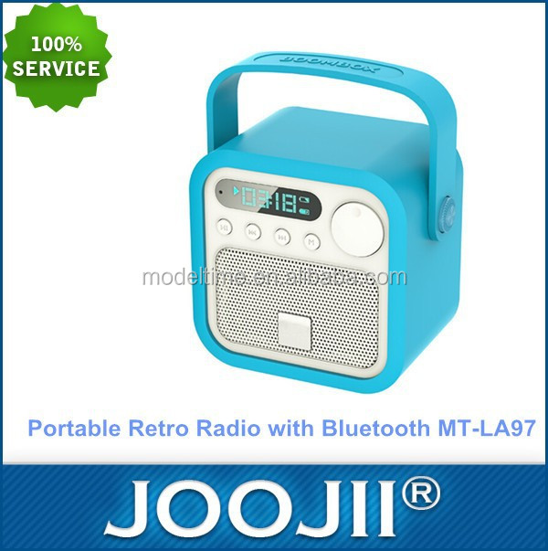 Portable Retrostyle Leather bluetooth Speaker Box with FM Radio