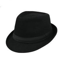 A simplicidade Das Mulheres Dos Homens de Manhattan Estruturado Chapéu de  Lã Fedora Trilby Gangster cd9d2c09fff