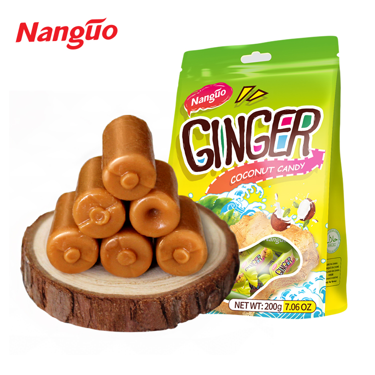 2018 New Wholesale turkish toffee Coconut Ginger candy Candy price in China Coconut flavor