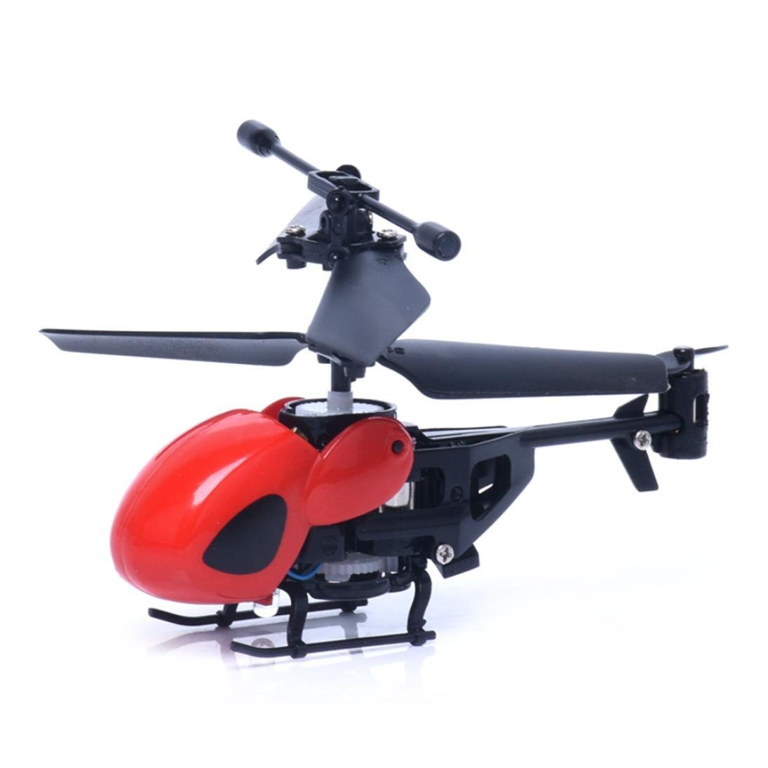 RC Helicopter, Lookatool RC 2CH Mini rc helicopter Radio Remote Control Aircraft Micro 2 Channel, Red