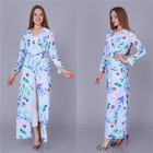 African abaya women printed cardigan dresses dubai muslim robe 2019 latest