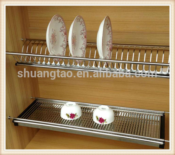 Gentil Kitchen Cabinet Stainless Steel Dish Rack Of Guangzhou Factory