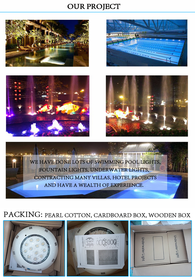 LED swimming pool light led fountain waterproof light and led underwater fountain light