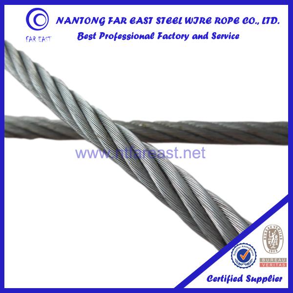 Hemp Core Steel Wire Rope Galvanized 6x37+fc-11.00mm Steel Wire ...