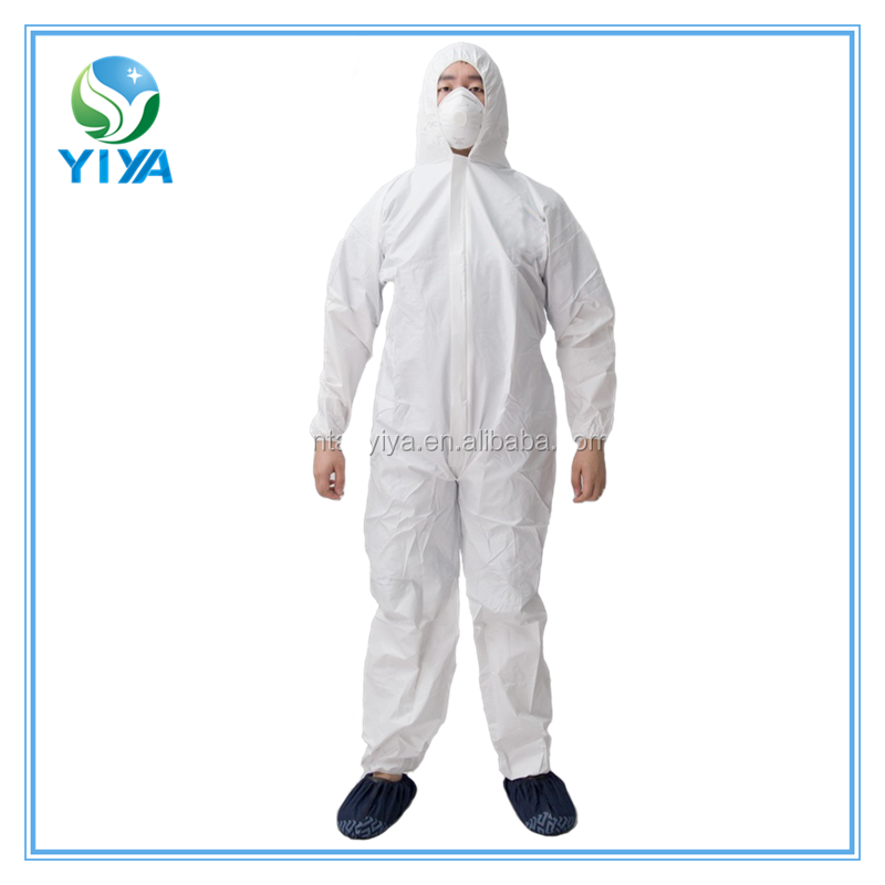 CE certified medical disposable coveralls,nonwoven overalls from hubei factory