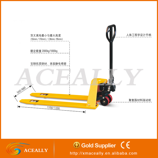 Brand new China cheap 2.5/5 ton CE hand pallet jack/truck