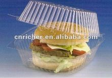 PE/PP round clear/transparent plastic food hamburger/cake/sandwich container/box/packaging with lid/mug/cover