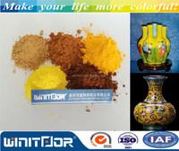 Ceramic pigment Pr.Yellow and vanadium-zirconium yellow for ceramic artwork