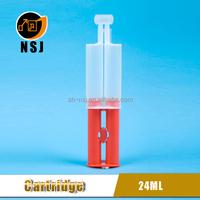 24ml 1:1 Plastic Dental Empty Dual Sealant Barrel Syringe
