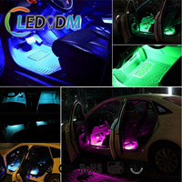 New Car 12V RGB Flexible Led Strip IR remote Sound Activated Control Car Internal Interior Foot Atmosphere Light