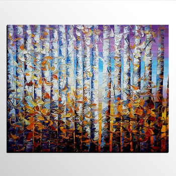 Wholesale Famous Handmade oil painting Natural Beautiful Abstract Scenery 3D Oil Painting On Canvas for hotel decor