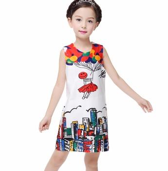 9aba125e2a Girl Party Wear Western Baby Girl Printed Dress Children Frocks Design One  Piece Children Girl Dress