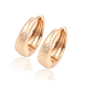29323 Xuping Fashion African Earrings Hot sales popular 18K gold plated Jewelry hoop earrings