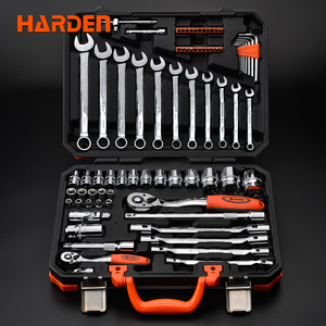 "Heavy Duty Professional Universal Automotive Hand Tool 77 pcs 1/4"" CRV Steel Socket Wrench Set With Blow Case"