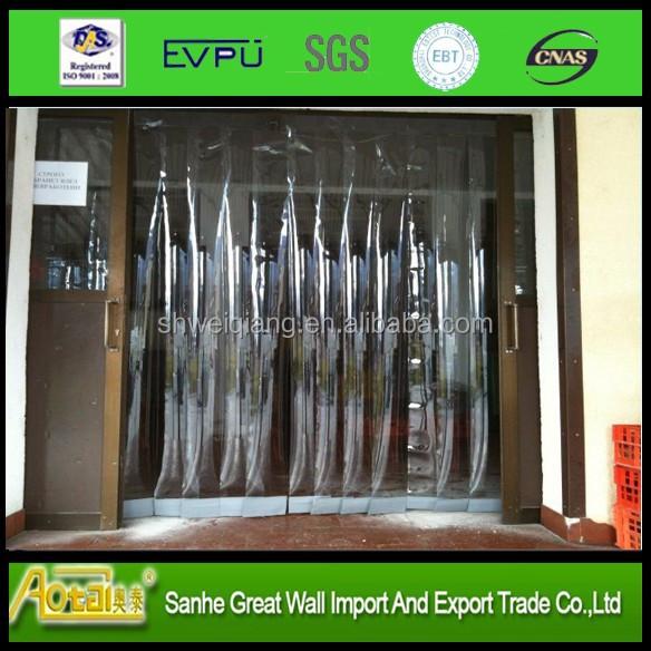 Surface lisse en plastique porte pvc rideau pour l 39 ext rieur feuilles en plastiques id de - Rideau en plastique exterieur ...