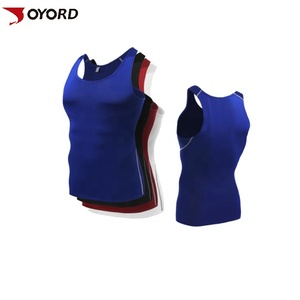 High quality custom logo solid color blank plain dry fit mens vest stringer gym tank top fitness bodybuilding