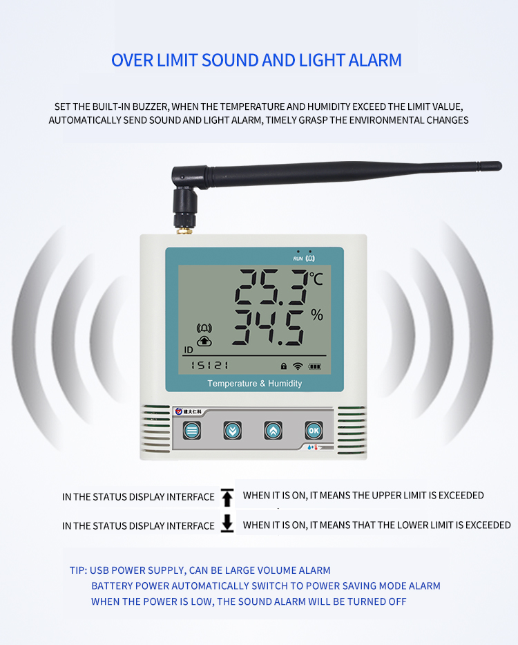 Ultra low temperature battery Wireless temperature and humidity transmitter
