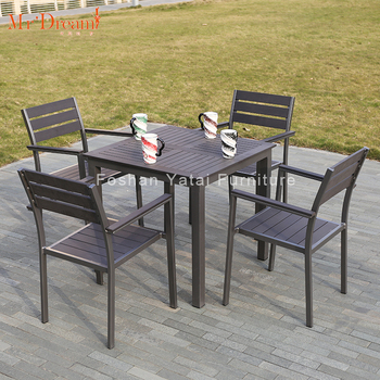 plastic poly wood picnic table wpc outdoor dining chair