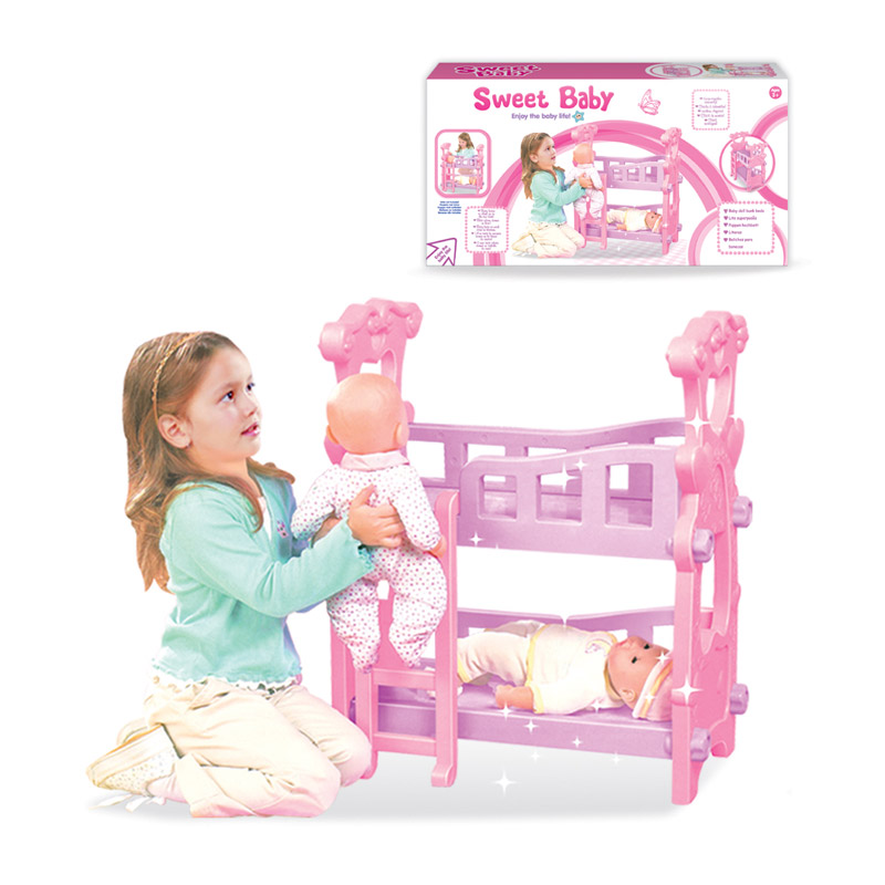 Distributor Good Price Pink Plastic Baby Crib Toys