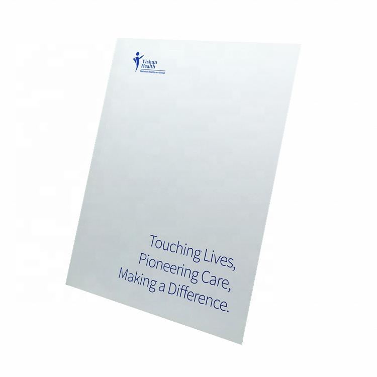 Promotional fancy file folder with flap presentation custom folder a4