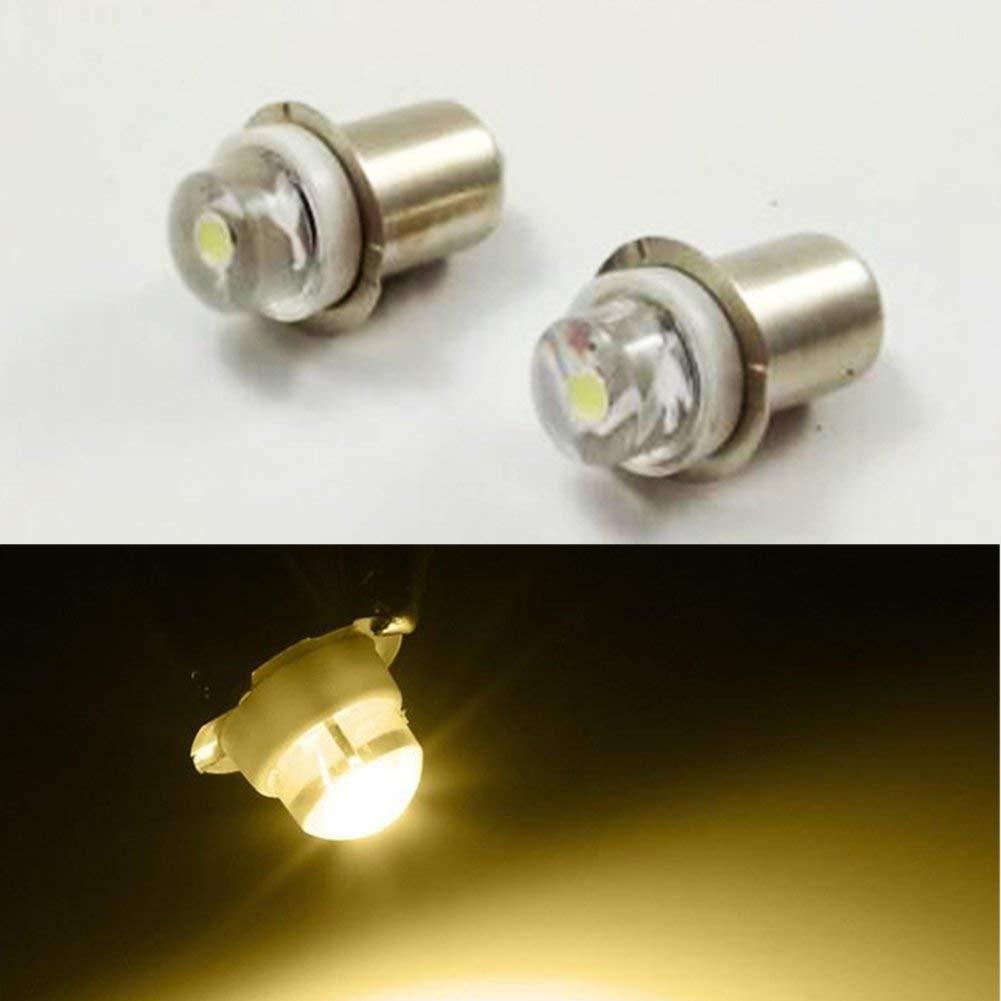 P13.5S 3V 4.5V 6V 0.5W 0.75W 4300K LED Light Bulb Torch Headlight Mini Head Lamp Flashlight (3-Pack)