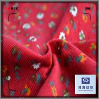 wide wale fine cotton corduroy print fabric wholesale in Huzhou