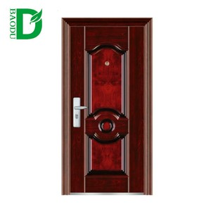 China New Model Best Price Baodu brand china steel door low prices security steel mesh screen Wrought Iron Entry Door