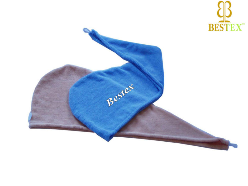 Hotel supply towel Terry Synthetic hair wrap around ponytail