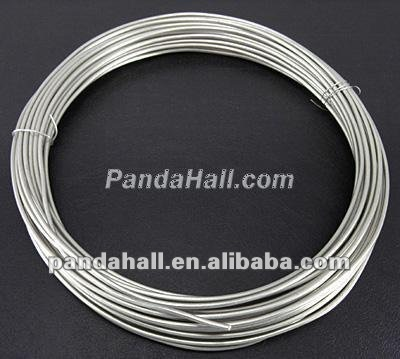 Aluminum Jewelry Making Wire, Silver Color(AW10x1.5mm-01)
