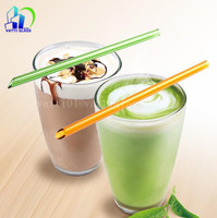 wholesale reusable lead free glass drinking straws for smoothies