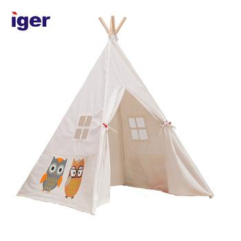 Weiß Leinwand Innen Portable Party Baumwolle Tipi Tipi Zelt Für Kinder -  Buy Innenzelt Für Kinder,Tipi Zelt,Kinder Baumwolle Tipi Zelt Product on ...