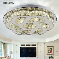 Wireless Remote Control Crystal Ceiling Chandelier Roses Design