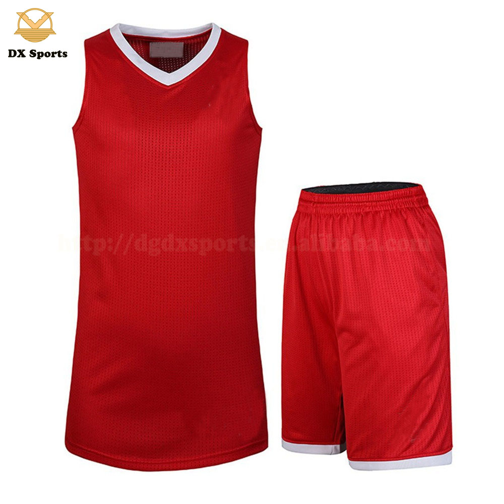 d8385ad4772 China latest sublimation sample basketball jersey uniform design color red