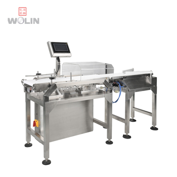2018 New designed hot sale plastic bags cans bottles on line sorting check weigher