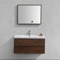 Wall Mount Luxury Hotel Melamine contemporary 42 inch bathroom vanity
