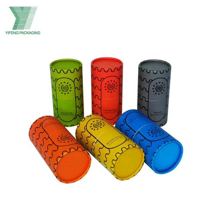 China manufacturer custom made colorful paper tube gift packaging box