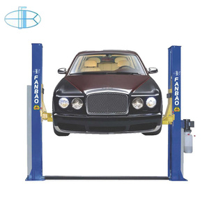 Double-cylinder one side manual release 2 post automotive car lift