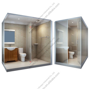 all in one SMC glass prefabricated integrated Unit bathroom pods shower cabin