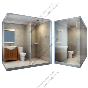 All in one smc glass prefabricated integrated unit Prefabricated bathroom pods suppliers