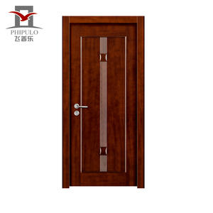 Fireproof design interior residential steel wood door for decorating houses made in china