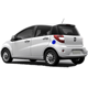 102km/h high speed smart 4 seat electric car electric vehicle/electric taxi car