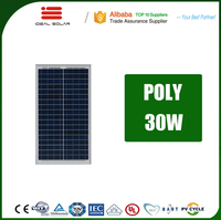 a grade photovoltaic wafers 25w 30w 40w 12v mono poly solar panel for the home roof tile mounting bracket
