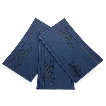 Custom private brand jeans leather label